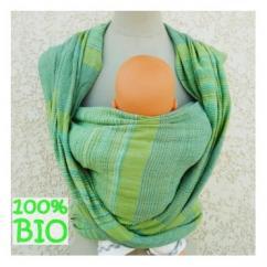 Cococinelle - Echarpe de portage bio - Verte - Echarpe de portage