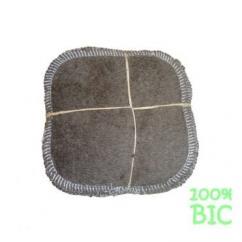 Cococinelle - Lot de 10 Lingettes Marron en éponge coton bio- 10x10cm - Lingette