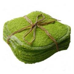 Cococinelle - Lot de 10 Lingettes Verte en éponge coton bio- 10x10cm - Lingette