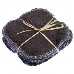 Cococinelle - Lot de lingette en éponge de coton bio Marron en 15/15 cm - Lingette