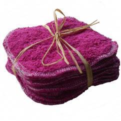 Cococinelle - Lot de lingette en éponge de coton bio prune en 15/15 cm - Lingette