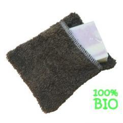Cococinelle - Moussette pour le savon en éponge Marron 100%coton bio - Moussette