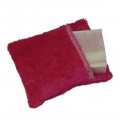 Cococinelle - Moussette pour savon en coton bio couleur prune - Moussette