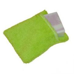Cococinelle - Moussette pour savon en coton bio couleur Verte Claire - Moussette