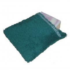 Cococinelle - Moussette pour savon en coton bio couleur Verte Foncé - Moussette