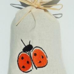 Cococinelle - Sachet de lavande séchée- Coccinelle orange - Pochon de senteur