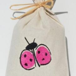 Cococinelle - Sachet de lavande séchée- Coccinelle rose - Pochon de senteur