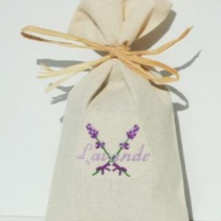 Cococinelle - Sachet de lavande séchée- Lavande violette - Pochon de senteur