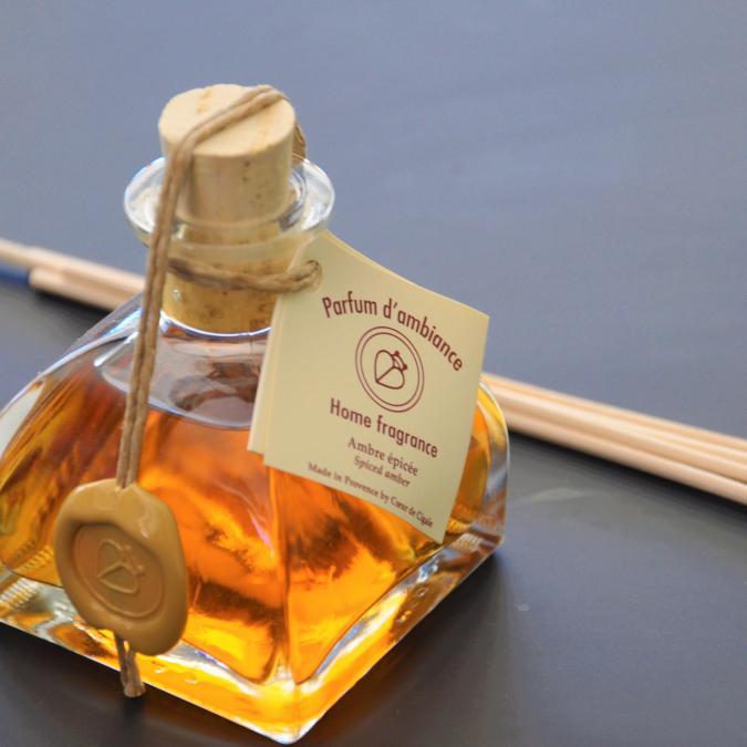 COEUR DE CIGALE - Diffuseur d'ambiance Ambre Epicée - 100ml - Parfum d'intérieur -
