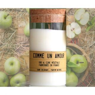 Comme un Amour - Bougie parfumée artisanale senteur Pommes vertes - Bougie - Pomme verte