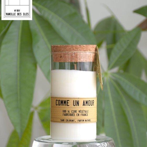 Comme un Amour - Bougie parfumée artisanale senteur Vanille des iles - Bougie - Vanille