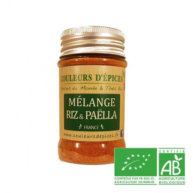 COULEURS D'ÉPICES - Mélange Riz et Paëlla - 50 gr - Mélange d'épice