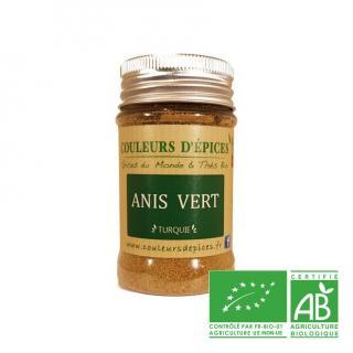 COULEURS D'ÉPICES - Pot Anis vert moulu - 50 gr - Anis vert