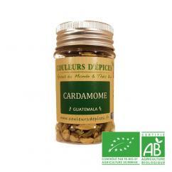 COULEURS D'ÉPICES - Pot Cardamome verte (graine) - 25 gr - cardamome