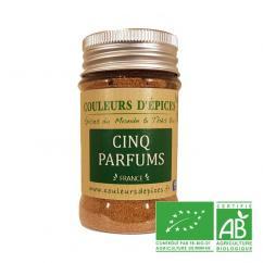 COULEURS D'ÉPICES - Pot Cinq parfums - 50 gr - Mélange d'épice