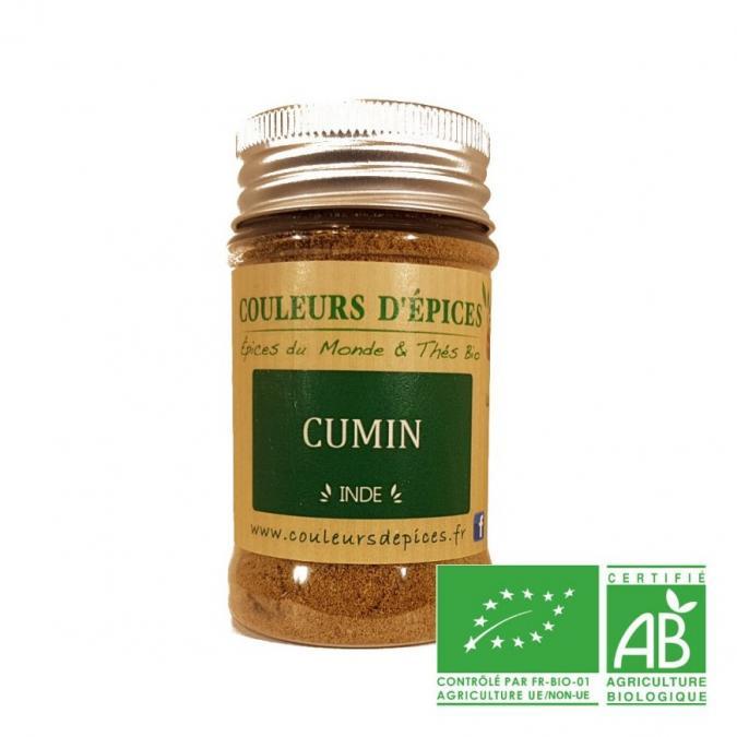 COULEURS D'ÉPICES - Pot Cumin moulu - 50 gr - cumin