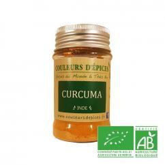 COULEURS D'ÉPICES - Pot Curcuma - 50 gr - Curcuma
