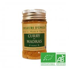 COULEURS D'ÉPICES - Pot Curry de Madras fort - 50 gr - curry
