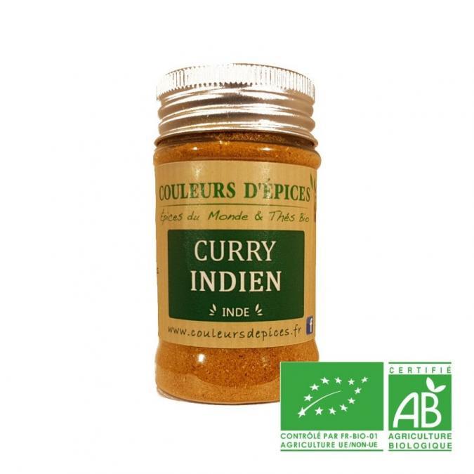 COULEURS D'ÉPICES - Pot Curry indien doux - 50 gr - curry