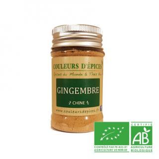 COULEURS D'ÉPICES - Pot Gingembre moulu - 50 gr - Gingembree