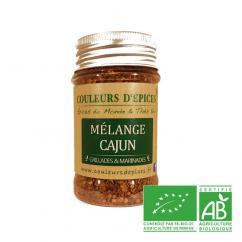 COULEURS D'ÉPICES - Pot Mélange Cajun - 45 gr - Mélange d'épice