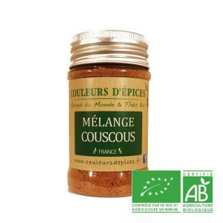 COULEURS D'ÉPICES - Pot Mélange Couscous - 50 gr - Mélange d'épice