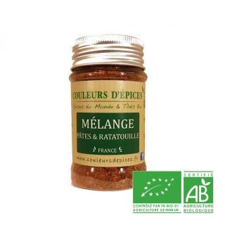 COULEURS D'ÉPICES - Pot Mélange Pates et ratatouille - 40 gr - Mélange d'épice