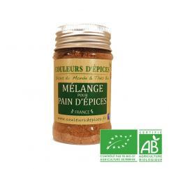 COULEURS D'ÉPICES - Pot Mélange pour Pain d'épices - 50 gr - Mélange d'épice