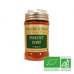 COULEURS D'ÉPICES - Pot Piment fort - 50 gr - Piment