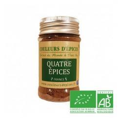 COULEURS D'ÉPICES - Pot Quatre épices - 50 gr - quatre épices