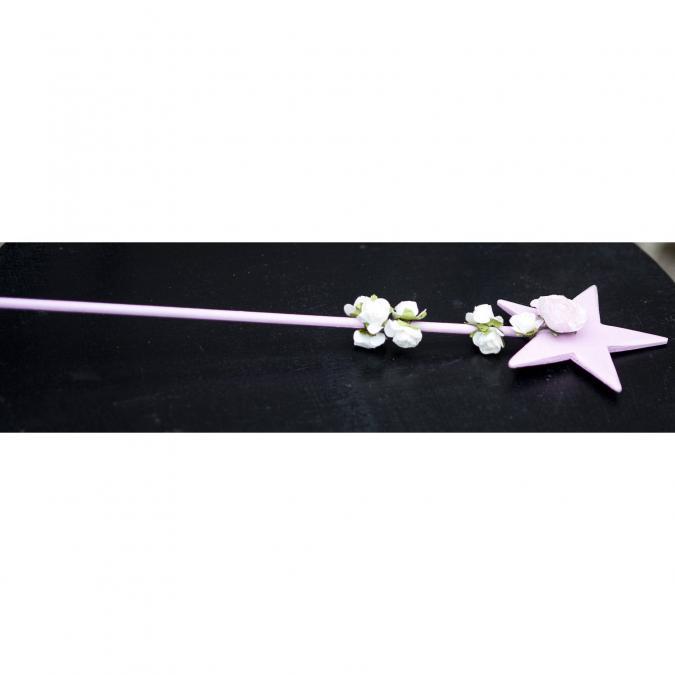 Couronne2fleurs - Baguette magique florale pour jolie princesse - baguette florale