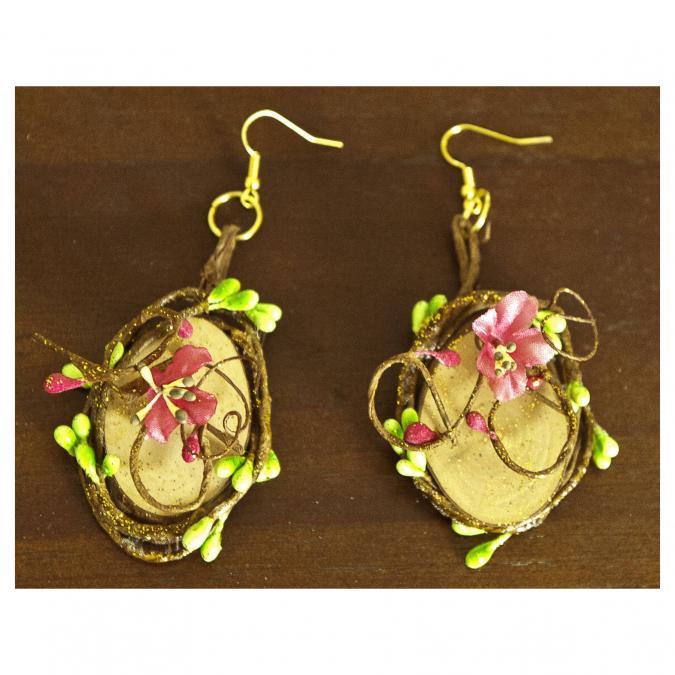 Couronne2fleurs - Boucles d'oreilles florales pour gentille Elfe - Boucles d'oreille - fleur