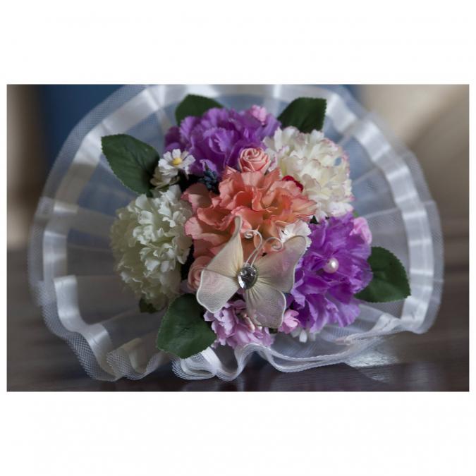 Couronne2fleurs - Bouquet de mariée aux fleurs multicolores - Bouquet de mariée