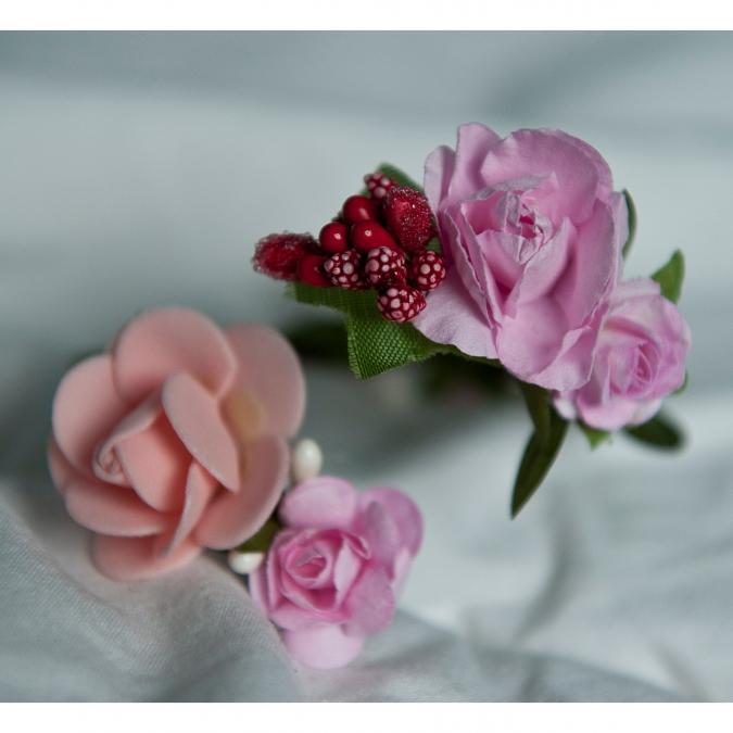Couronne2fleurs - Bracelet floral ajustable - Bracelet - 4668