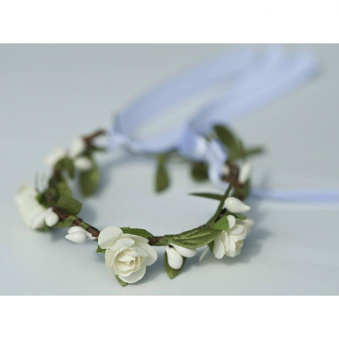 Couronne2fleurs - Bracelet floral décliné en blanc - bracelet floral
