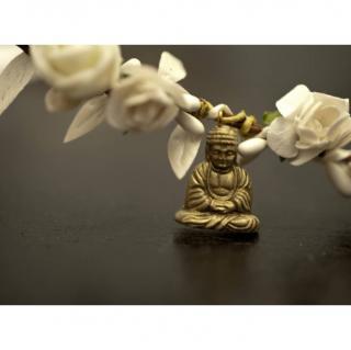 """Couronne2fleurs - Couronne de fleurs cheveux blanche modèle """"Bouddha"""" - couronne de fleurs"""