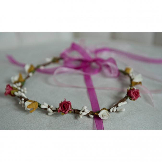 Couronne2fleurs - Couronne de fleurs cheveux légère et printanière - couronne de fleurs