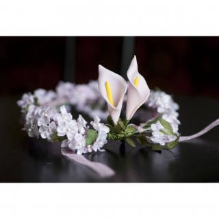 """Couronne2fleurs - Couronne de fleurs cheveux modèle """"Baby rose"""" - couronne de fleurs"""
