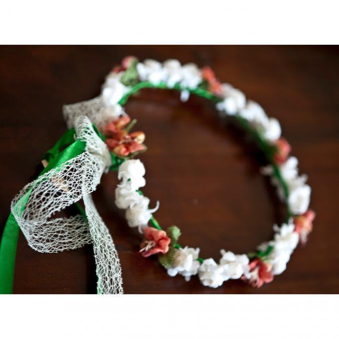 Couronne2fleurs - Couronne de fleurs cheveux modèle cerisier - couronne de fleurs