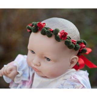 Couronne2fleurs - Couronne de fleurs cheveux pour bébé - couronne de fleurs