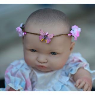 Couronne2fleurs - Couronne de fleurs cheveux pour bébé, poupée ou nounours - couronne de fleurs