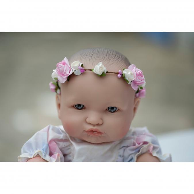 Couronne2fleurs - Couronne de fleurs cheveux pour bébé poupon ou nounours - couronne de fleurs