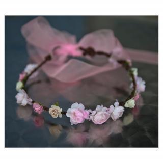 Couronne2fleurs - Couronne de fleurs shabby chic - couronne de fleurs