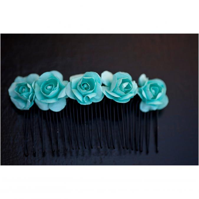 Couronne2fleurs - Peigne floral pour embellir votre chevelure - Peignes à cheveux