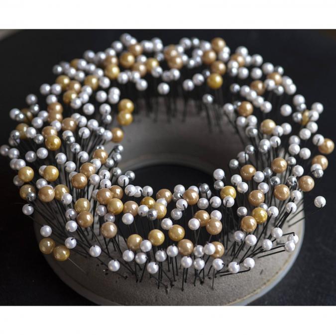 Couronne2fleurs - Pics à chignon perlés - pic à chignon