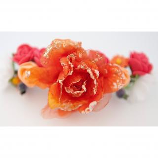 Couronne2fleurs - Pince à cheveux florale coiffure mariage couronne de fleurs - pince à cheveux