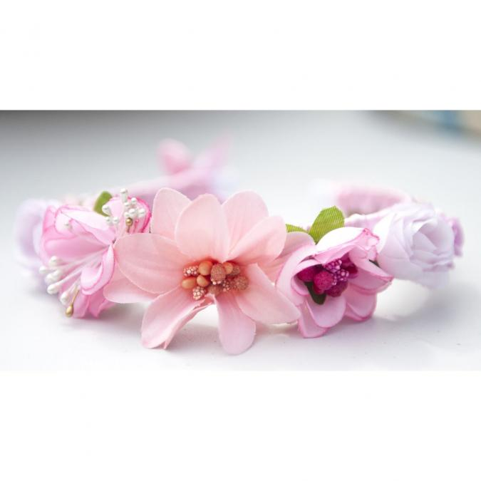 Couronne2fleurs - Serre-tête romantique et fleuri pour une belle journée - serre tête