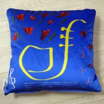 COUSSIN, RIDEAU & Cie signé Isabelle Agnély - Coussin FLOWER SAXO - Coussin - Bleu