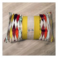 COUSSIN, RIDEAU & Cie signé Isabelle Agnély - Coussin GRAND ITALIANO - Coussin - Multicolore