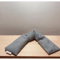 Créa'Récup Design - Bouillotte sèche LONGUE- grise - Bouillotte sèche